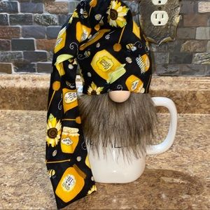 🍯 Handmade Honey Pot Bee Dipper Farmhouse Gnome